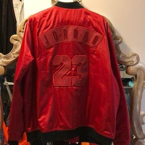 Mint never worn Jordan red satin jacket